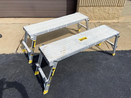(2) Gorilla Ladders Slim Fold