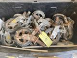 Tote of Scaffolding wheels