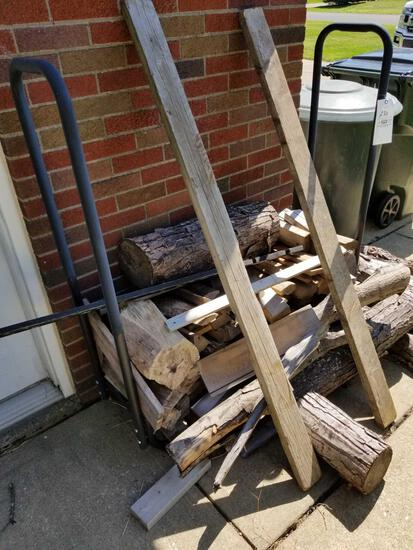 Firewood rack and firewood