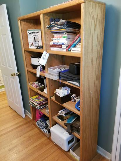 2-section bookshelf, contents sold separately