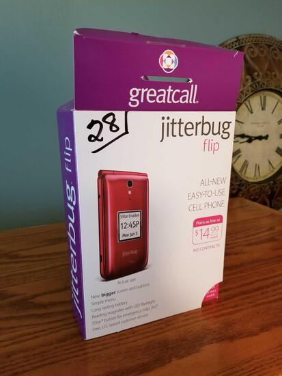 Jitterbug flip phone, never used