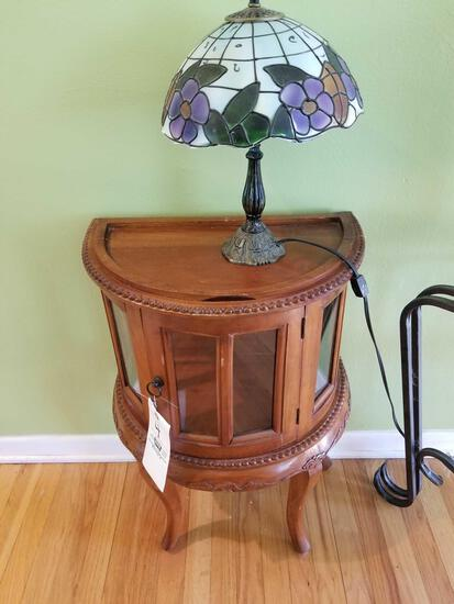Curio stand and lamp