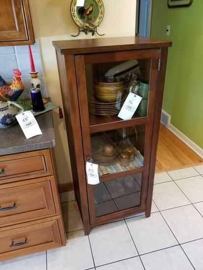 Glass door cabinet, matches lot 52