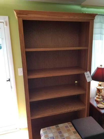 Solid oak bookshelf