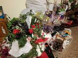 Large lot of artificial flowers