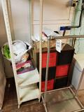 Clothes rack, organizer shelf, metal shelf