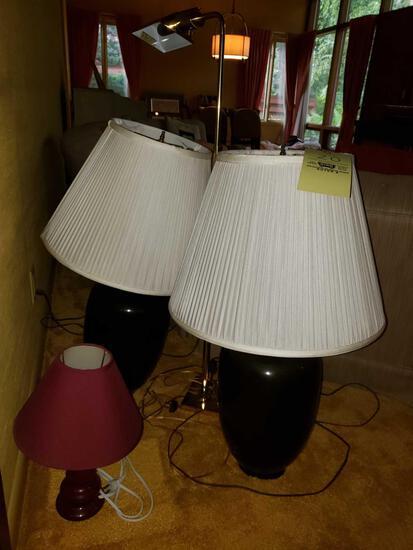 Pair of Lamps, Reading Lamp, Small Lamp