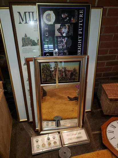 Framed Pictures and Mirror, Blasting Displays, Lead