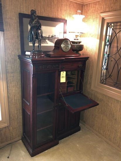 Drop Front Secretary and Bookcase *CONTENTS NOT INCLUDED*