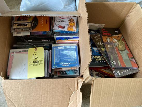 Box of CD's and Books
