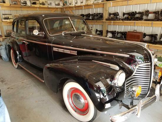 1940 Buick Special sedan, shows 96,201 miles, odom. discrepency, strait 8 cylinder, runs good