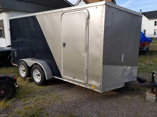 2011 Look cargo trailer, 7,000 lb. GVW, 16 ft. V nose, ramp door