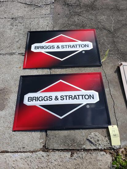 (2) Briggs & Stratton Tin Signs