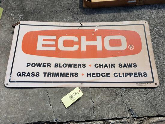 Echo Doubled Sided Metal Sign