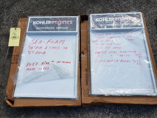 (2) Kohler Engines Dry Erase Boards
