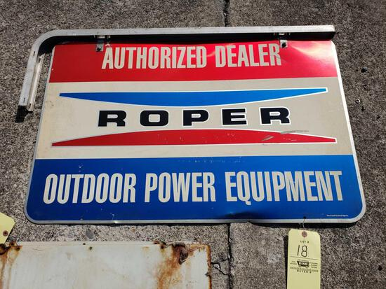 Roper Dealer Double Sided Hanging Tin Sign