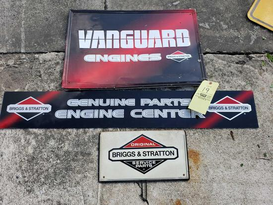 (3) Assorted Briggs and Stratton Signs