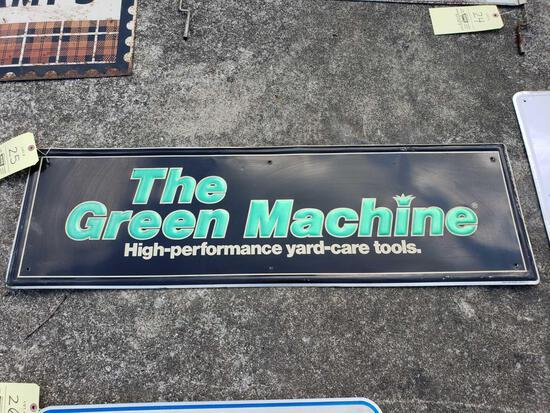 Green Machine Tin Sign