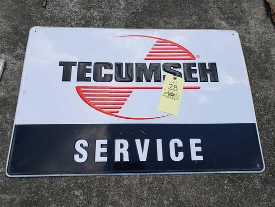 Tecumseh Service Tin Sign