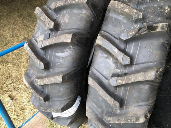 Pair new Crop Max 13.6-28 tractor tires