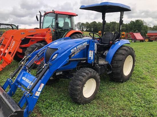 New Holland Boomer 41 4WD with NH 260 TLA loader with QT mat. bucket 137 act. hours