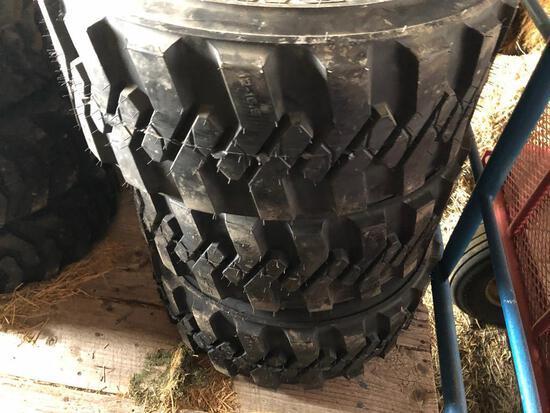 (4) New 12-16.5 skid loader tires