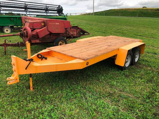 Heavy-duty 12' trailer with new deck, no title