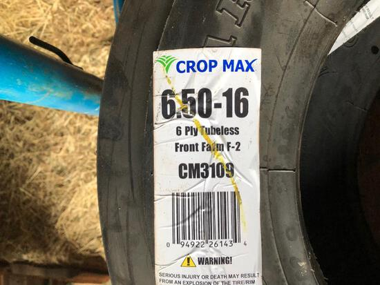 (2) New 6.50-16 3 rib front tires 6 ply