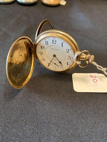 Burlington watch co 19 jewels hunter case