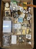 Box of watch parts