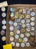 Box of misc pocket watches