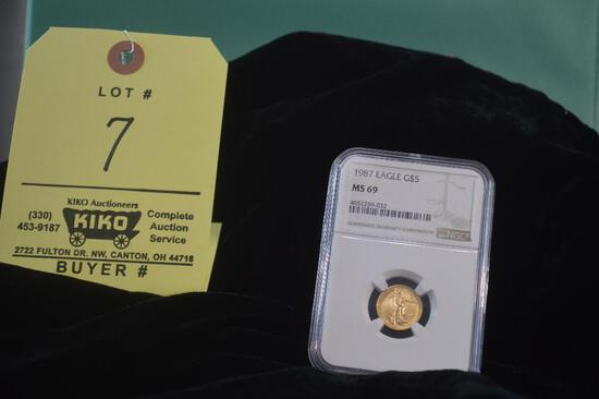 1987 Gold Eagle NGC Graded MS69 coin