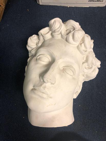 Ceramic/plaster head sculpture Sculpture House