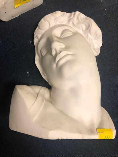 Ceramic/plaster head sculpture