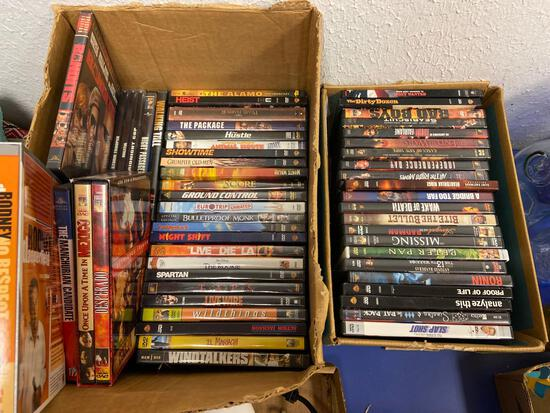 (2) Boxes of DVDs