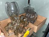 Glass Horses and Vases