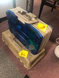 2 tackle boxes with fishing tackle