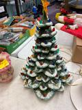 Ceramic Christmas Tree w/ Musical Stand