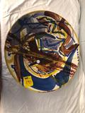 Signed Serota pottery bowl 17.5 inches wide