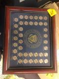 Framed coin set Presidential
