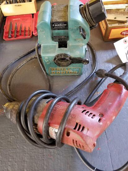 Milwaukee drill, drill doctor bit sharpener