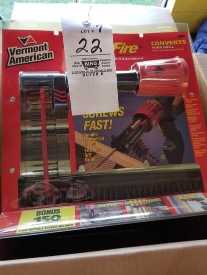 Rapid fire auto feed screw attachment, bid x 6