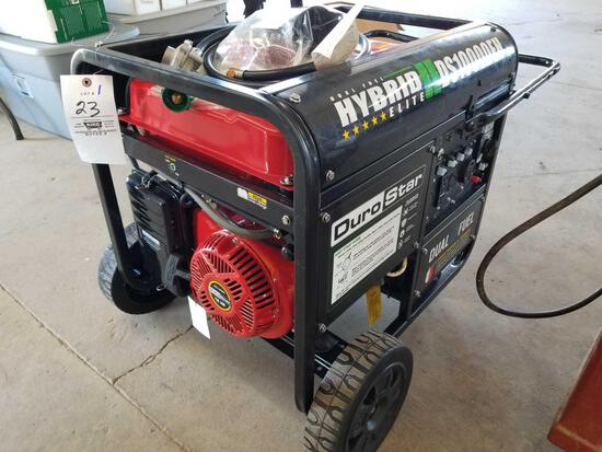 Duro star hybrid DS10000EH generator, 18hp, gas or LP