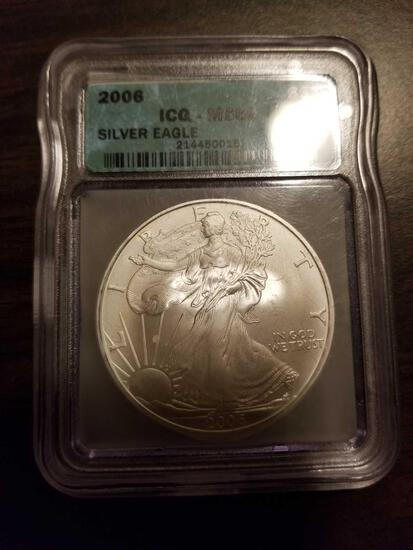 2006 Silver Eagle dollar, MS69