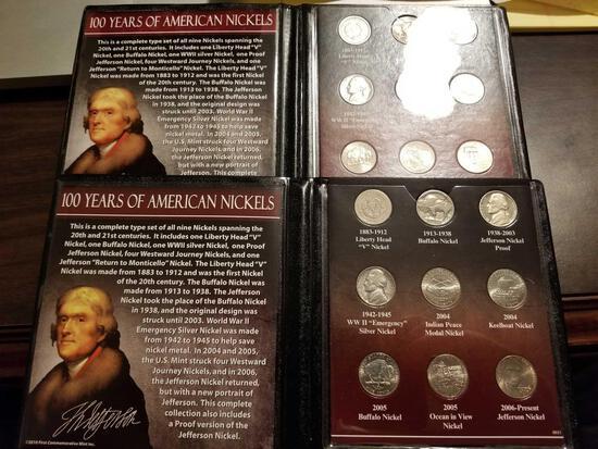 100 yrs of American nickels sets, bid x 2