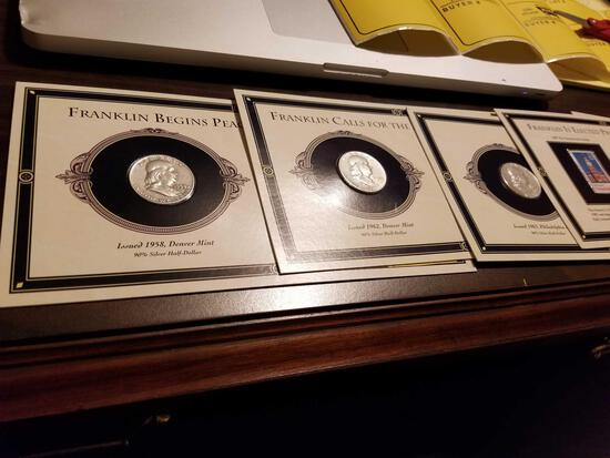 Franklin silver halves, bid x 6