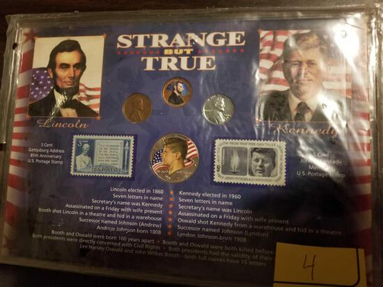 Strange But True Lincoln and Kennedy set