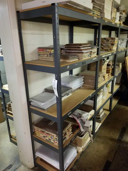 7 steel shelves, bid x 7