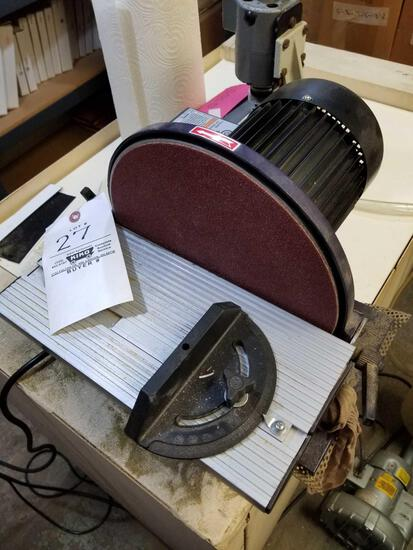 Central machinery 10 in disc sander