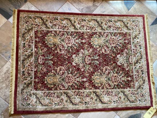Shaw nylon rug, 3.10 x 5.7, machine made.